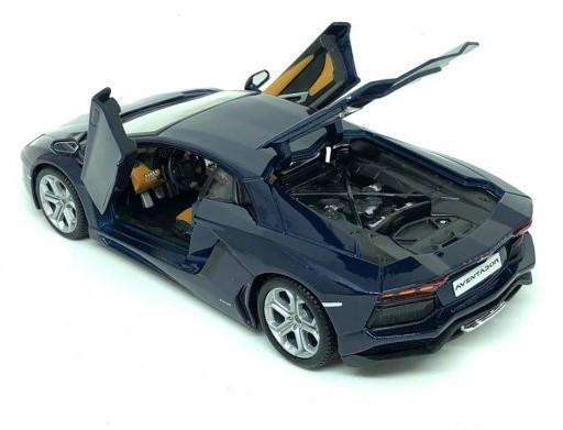 Miniatura Lamborghini Aventador Azul 2011 1/24 Maisto