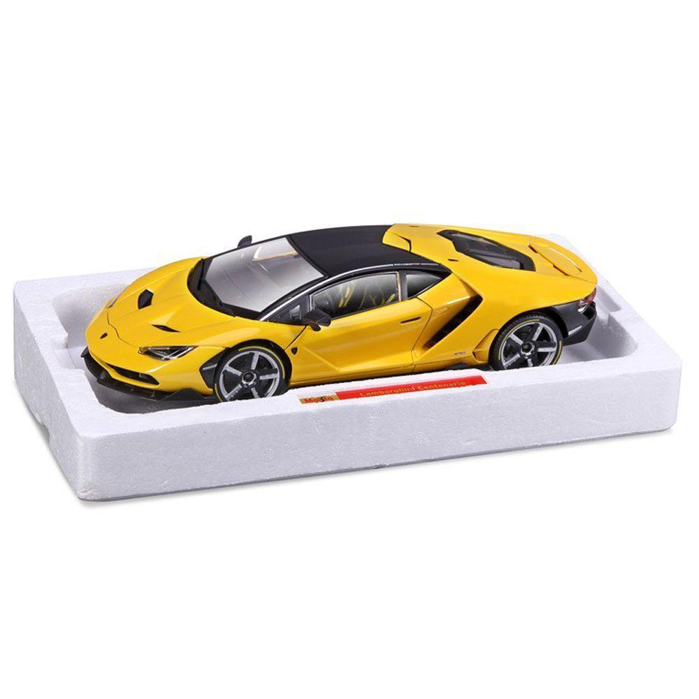 Miniatura Lamborghini Centenario Amarela 1/18 Maisto Exclusive