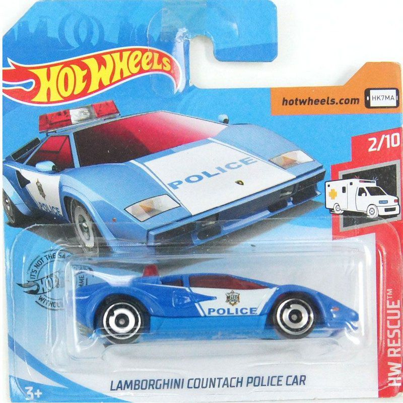 Miniatura Lamborghini Countach Police Car HW Rescue 1/64 Hot Wheels