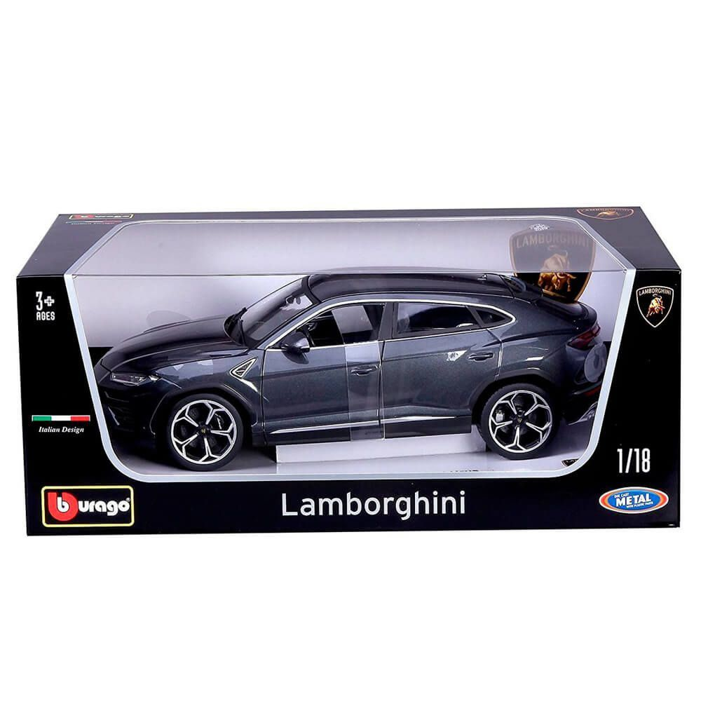 Miniatura Lamborghini Urus 2018 Cinza 1/18 Bburago Italian Design