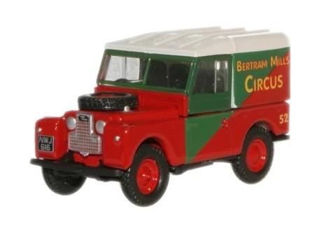 Miniatura Land Rover 88 Circus Bertram Mills 1/76 Oxford