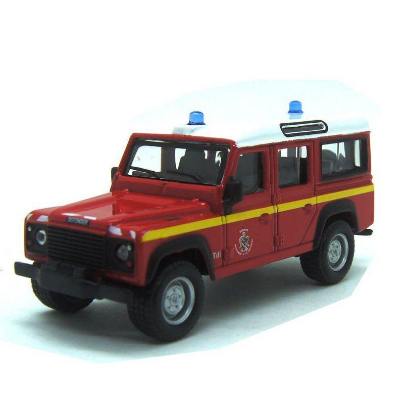 Miniatura Land Rover Defender 110 Emergência Bombeiro 1/47 BBurago Italian Design