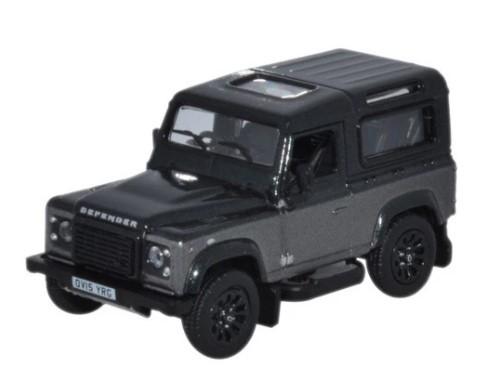 Miniatura Land Rover Defender 90 Corris Grey Autobiography 1/76 Oxford