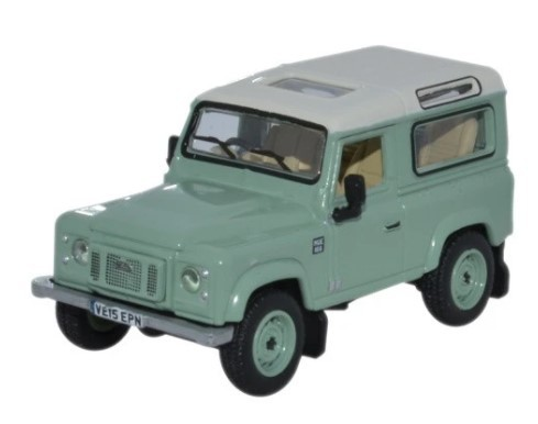 Miniatura Land Rover Defender 90 Heritage Green 1/76 Oxford