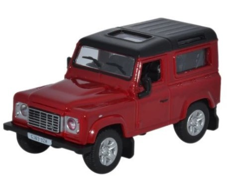 Miniatura Land Rover Defender 90 Red 1/76 Oxford