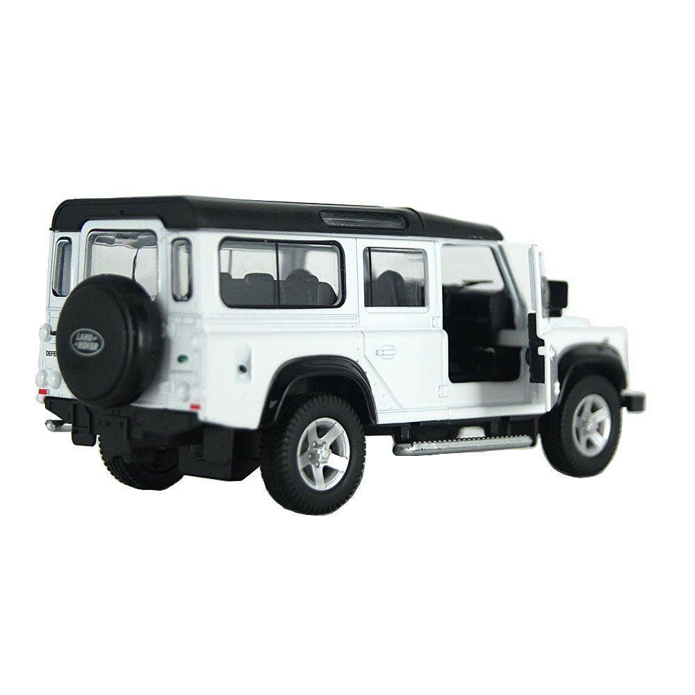 Miniatura Land Rover Defender Branca Luz e Som 1/32 Hot Wheels