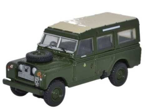 Miniatura Land Rover Serie 2 Army 44th Infantry 1/76 Oxford