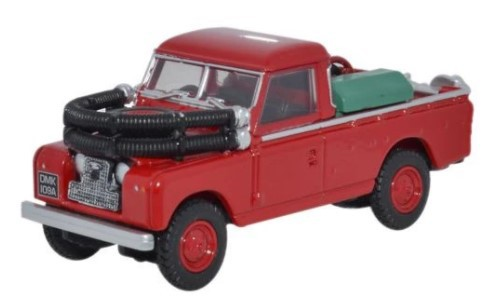 Miniatura Land Rover Serie 2 Bombeiro 1/76 Oxford