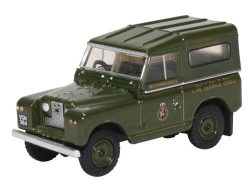 Miniatura Land Rover Serie 2 British Civil Defence  1/76 Oxford
