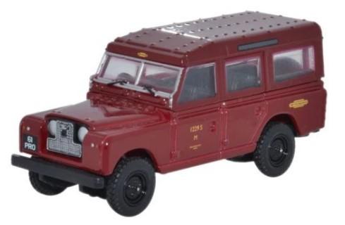 Miniatura Land Rover Serie 2 British Railways Red 1/76 Oxford
