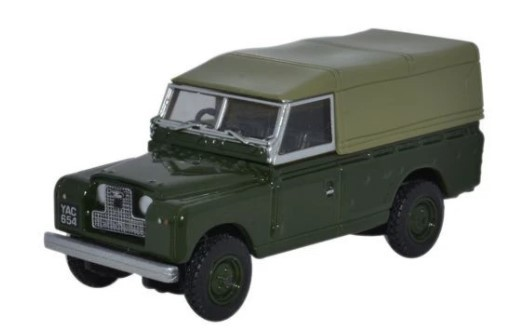 Miniatura Land Rover Serie 2 Canvas Black Green 1/76 Oxford