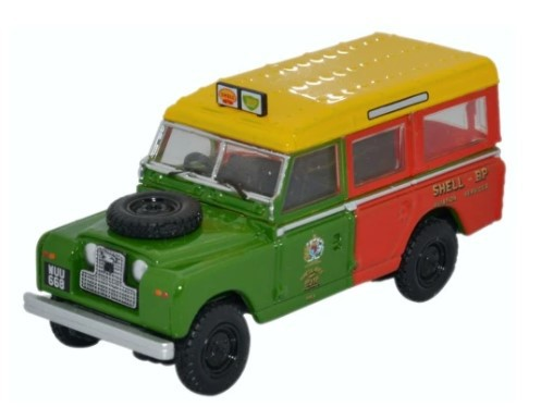 Miniatura Land Rover Serie 2 Shell Aviation Service 1/76 Oxford