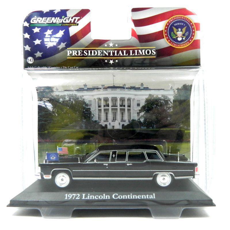 miniatura Lincoln Continental Presidente Ronald Reagan 1972 1/43 Greenlight