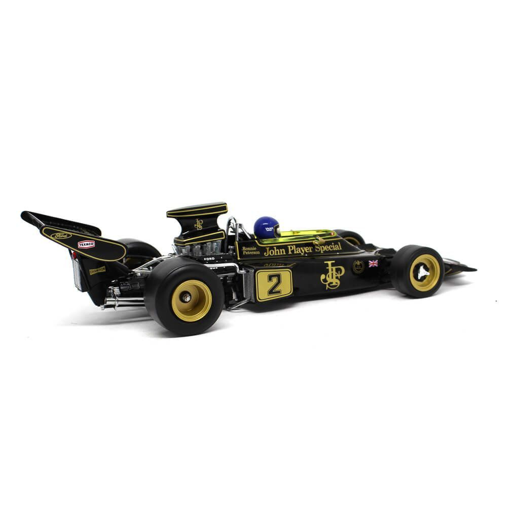 Miniatura Lotus F1 72E Peterson Winner Italian GP 1973 1/18 Sun Star Quartzo