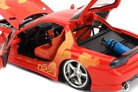 Miniatura Mazda RX-7 1993 Dom Velozes e Furiosos 1/24 Jada Toys