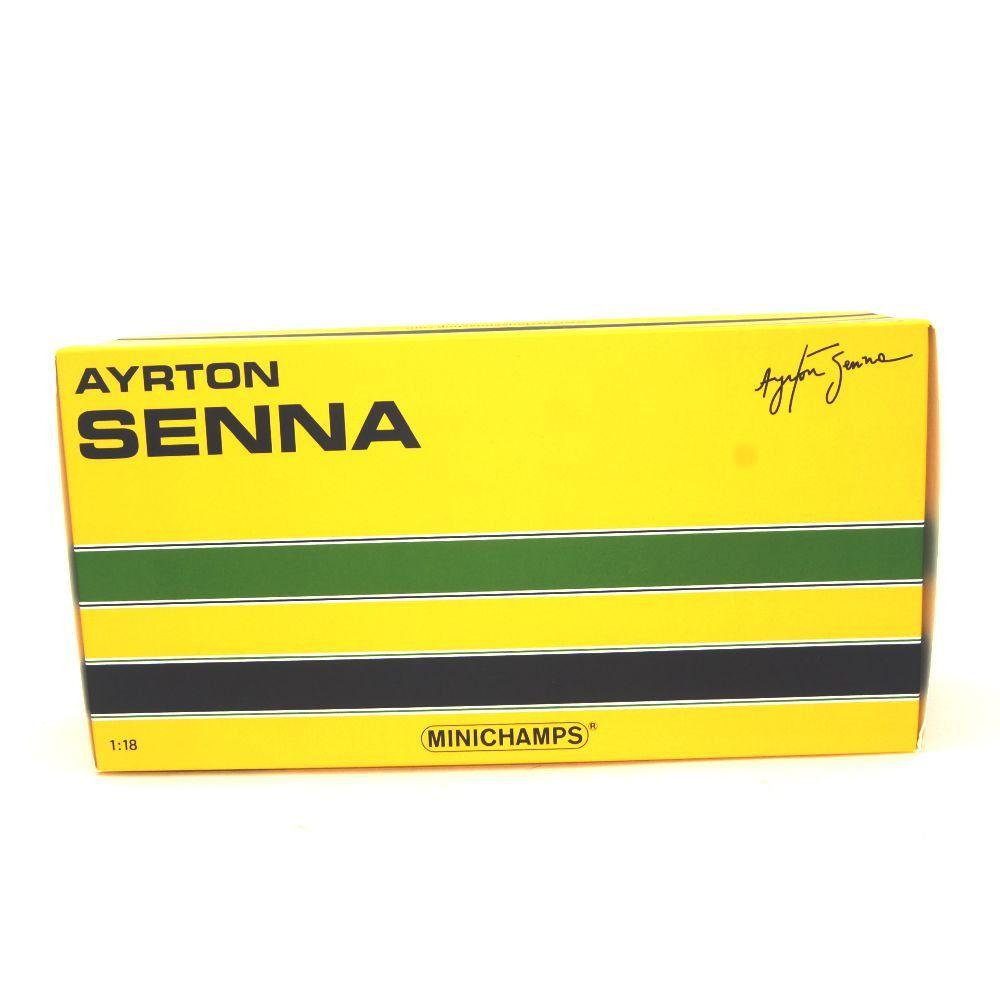 Miniatura McLaren Honda MP4/5B Ayrton Senna Campeão do Mundo 1990 1/18 Minichamps