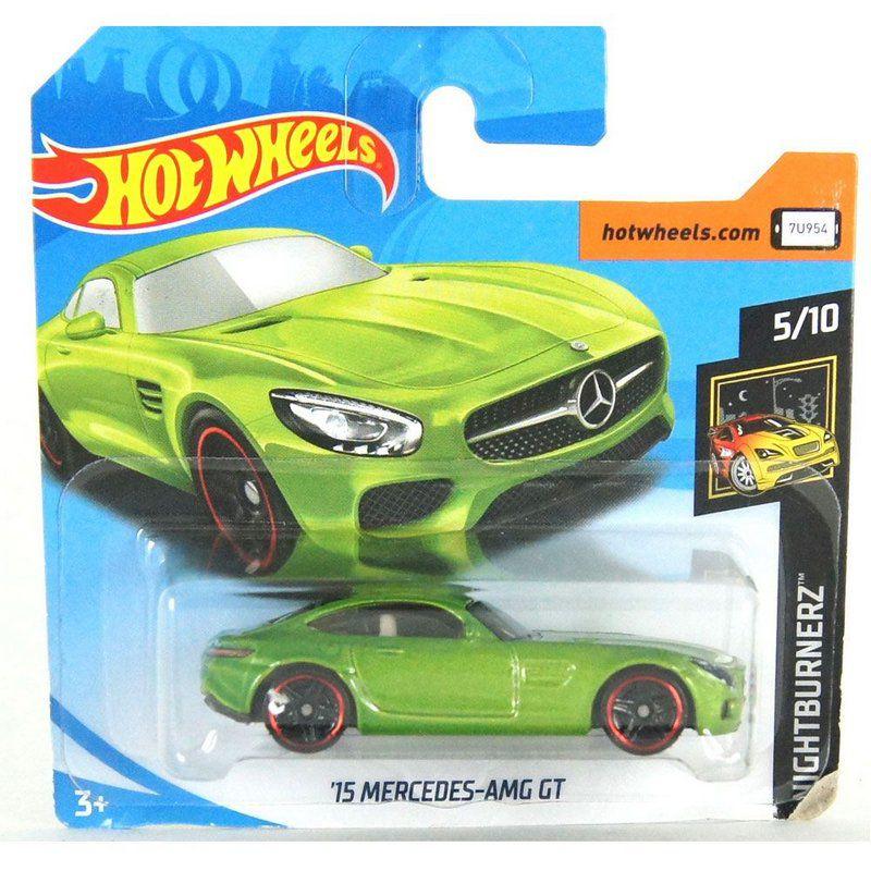 Miniatura Mercedes-AMG GT 2015 Nightburnerz 1/64 Hot Wheels