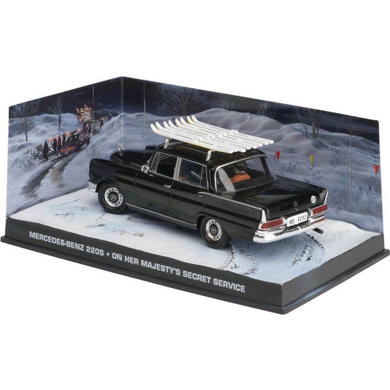 Miniatura Mercedes Benz 220S – 007 James Bond A serviço secreto de sua majestade 1/43 IXO