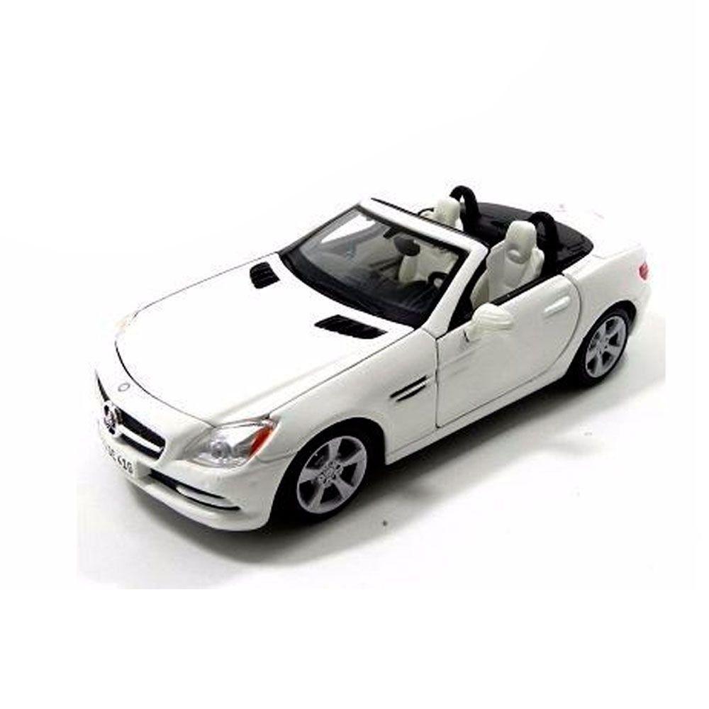 Miniatura Mercedes-Benz Slk Class Branco 1/24 Maisto