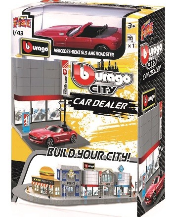Miniatura Mercedes Benz SLS AMG Car Dealer 1/43 BBurago City