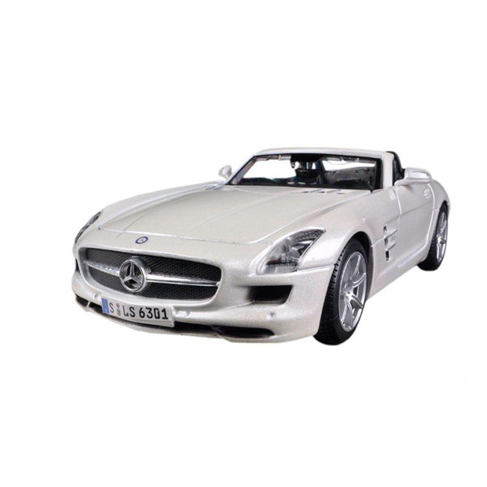 Miniatura Mercedes Benz Sls Amg Roadster Prata 1/24 Maisto