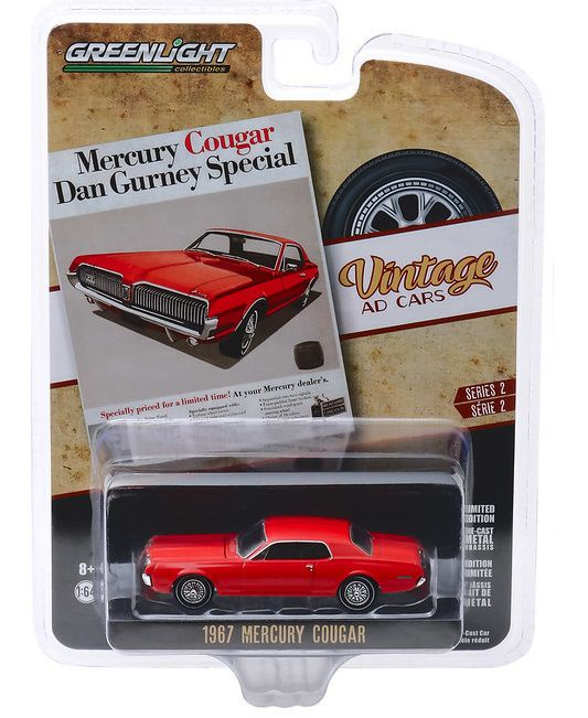Miniatura Mercury Cougar 1967 Vintage Cars 1/64 Greenlight