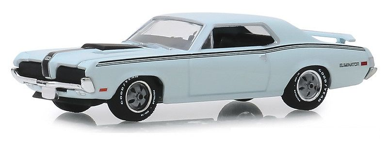 Miniatura Mercury Cougar Eliminator 1970 GL Muscle 1/64 Greenlight