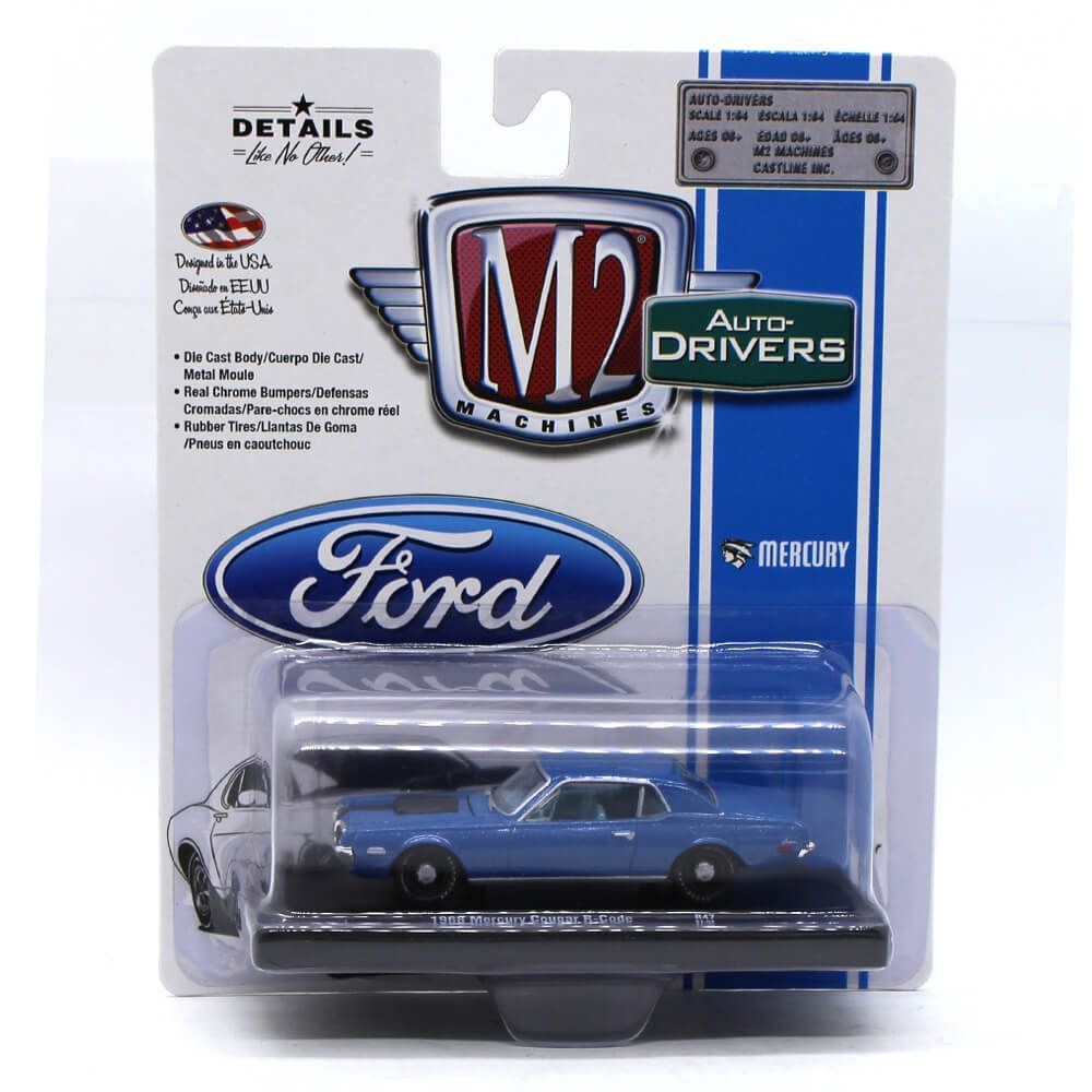 Miniatura Mercury Cougar R-Code 1968 1/64 M2 Machines Auto Drivers 11228 Release 47