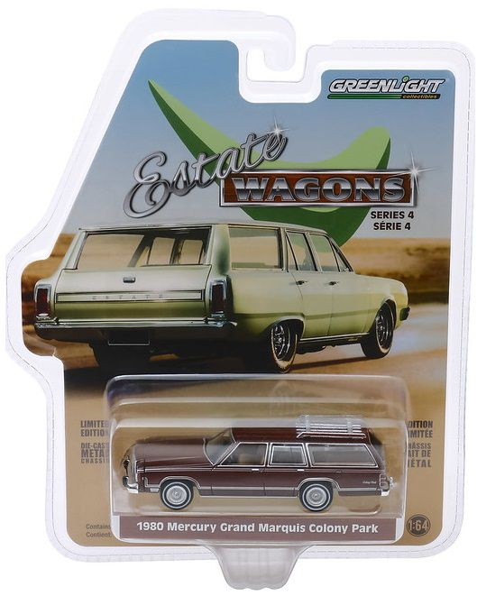 Miniatura Mercury Grand Marquis 1980 Estate Wagon 1/64 Greenlight