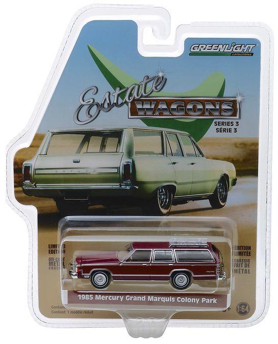 Miniatura Mercury Grand Marquis 1985 Estate Wagons 1/64 Greenlight