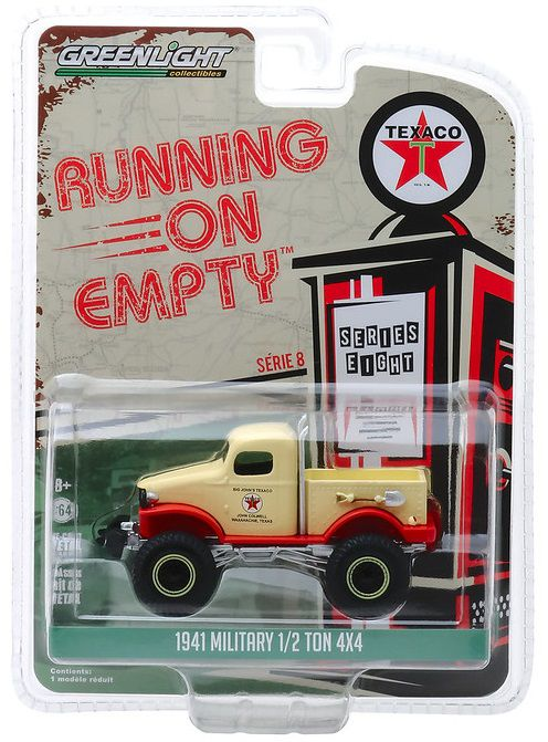 Miniatura Military Ton 4x4 1941 Running on Empty 1/64 Greenlight