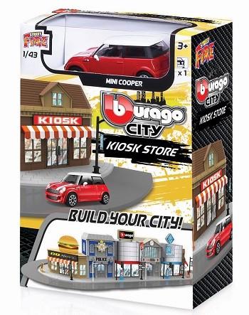 Miniatura Mini Cooper Kiosk Store 1/43 BBurago City