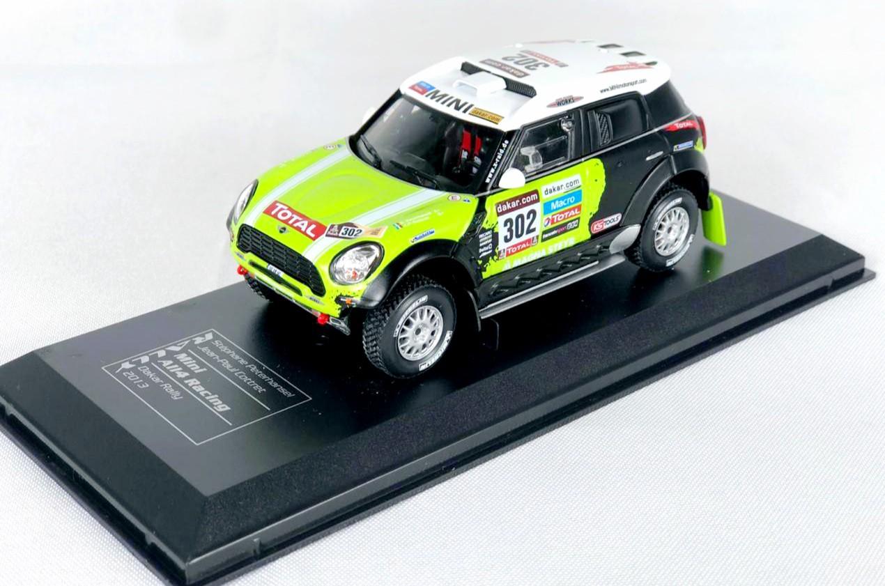 Miniatura Mini Cooper All4 Racing Rally 1/43 Ixo