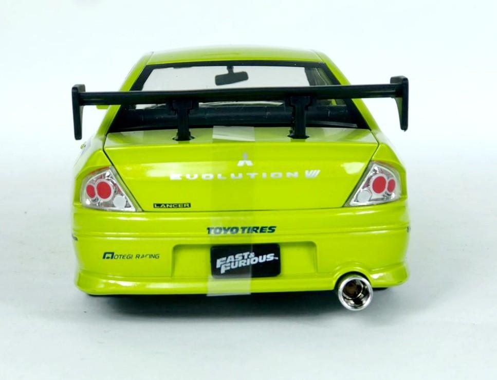Miniatura Mitsubishi Lancer EVO 7 Brian Velozes e Furiosos 1/24 Jada Toys