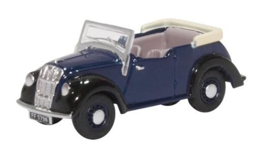 Miniatura Morris 8 E Series Tourer Dark Blue 1/76 Oxford