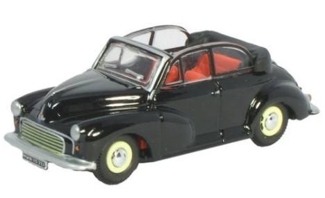 Miniatura Morris Minor Convertible Open Black/Grey 1/76 Oxford
