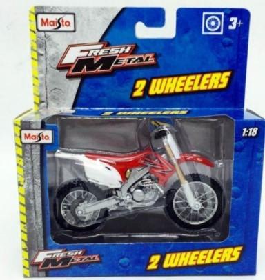 Miniatura Moto Honda CRF450R 1/18 Maisto