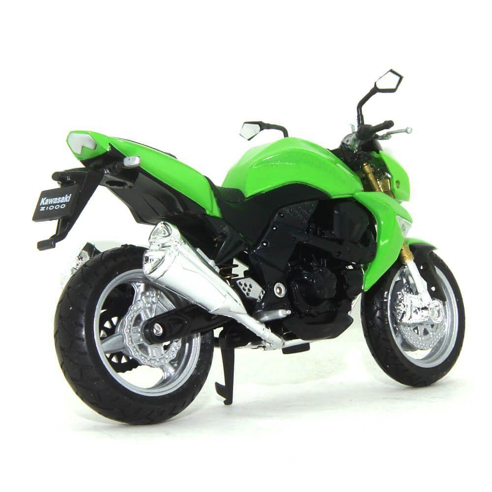 Miniatura Moto Kawasaki Z1000 1/18 California Cycle