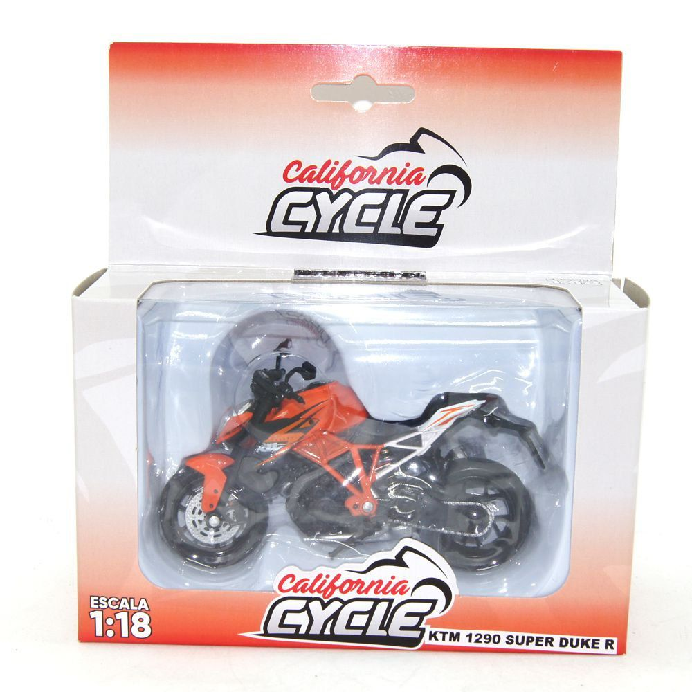 Miniatura Moto KTM 1290 Super Duke R 1/18 California Cycle