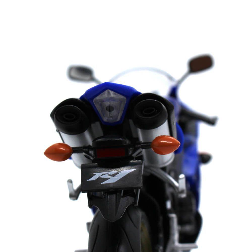 Miniatura Moto Yamaha YZF R1 1/10 Welly  - COM DEFEITO