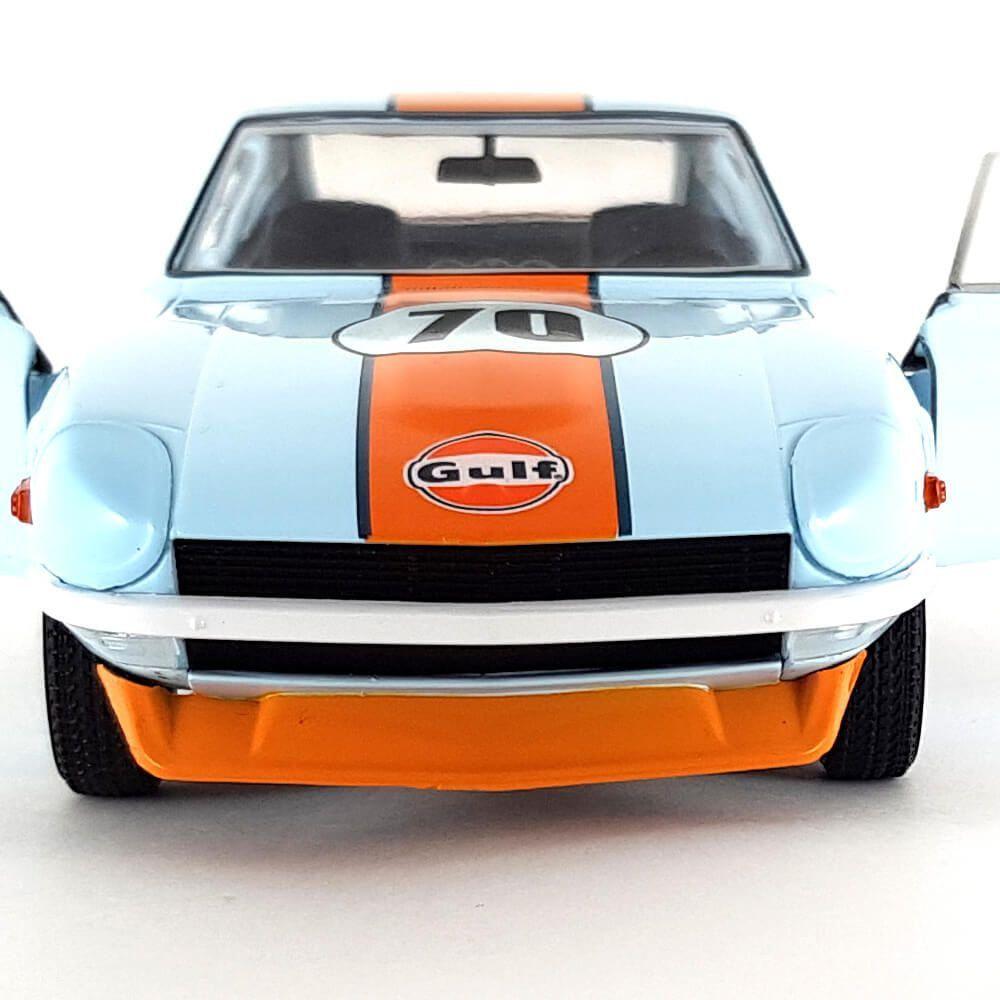 Miniatura Nissan Datsun 240Z Gulf N 70 Coupe 1970 1/24 Greenlight Tokyo Torque