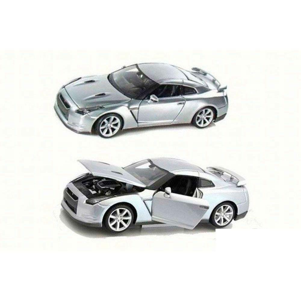 Miniatura Nissan Gt-R 2009 Prata 1/24 Maisto
