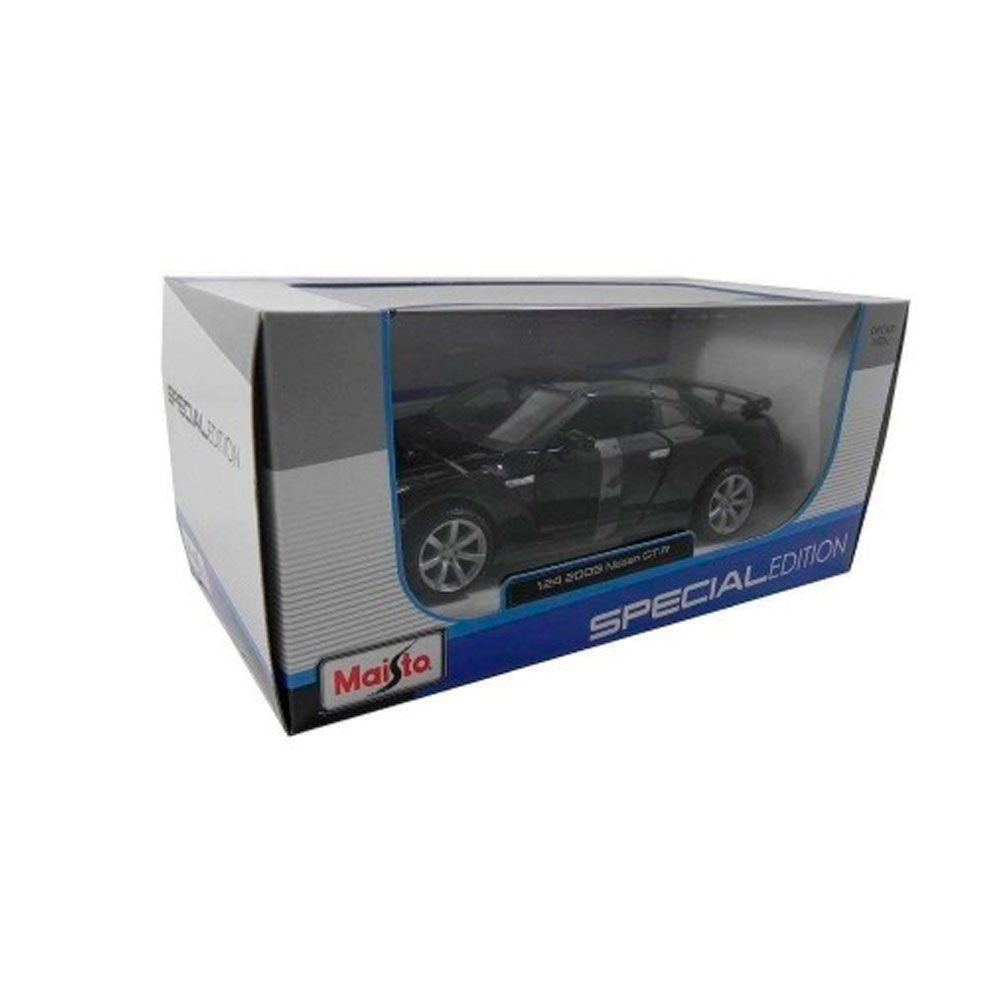 Miniatura Nissan Gt-R 2009 Preto 1/24 Maisto