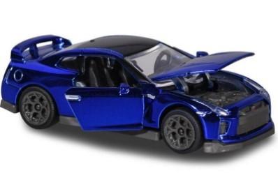 Miniatura Nissan GT-R Azul Cromado 1/64 Majorette
