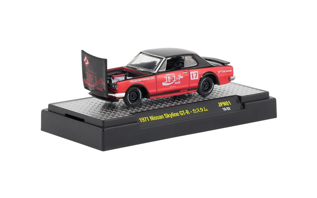 Miniatura Nissan Skyline GT-R 1971 Coca Cola 1/64 M2