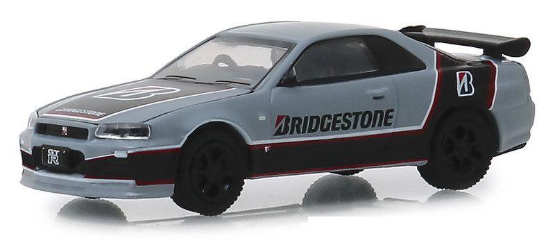Miniatura Nissan Skyline GT-R 2001 Bridgestone Running on Empty 1/64 Greenlight