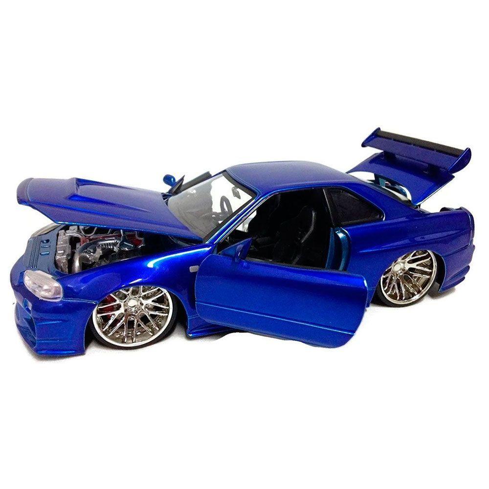 Miniatura Nissan Skyline GTR 2002 Velozes e Furiosos 1/24 Jada Toys