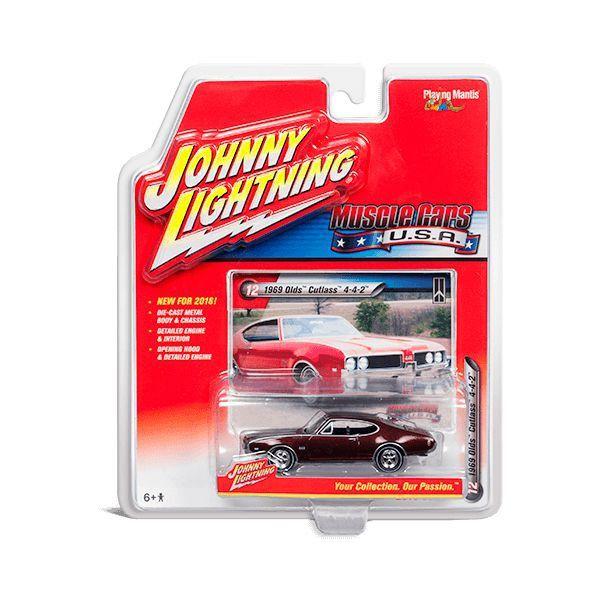 Miniatura Olds Cutlass 4-4-2 1969 Muscle Cars B 1/64 Johnny Lightning