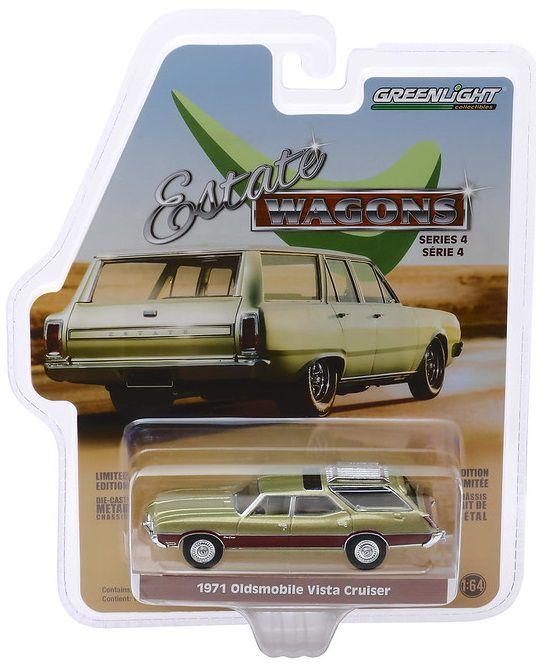 Miniatura Oldsmobile Vista Cruiser 1971 Estate Wagon 1/64 Greenlight