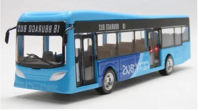 Miniatura Ônibus Azul Cidade 1/64-50 BBurago City